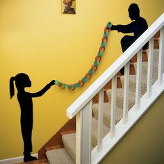Include your children in this one of a kind any holiday garland!