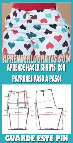 Aprende hacer pantalones shorts con patrones paso a paso. - Best Sewing Tips Sewing Shorts, Sewing Clothes, Diy Clothes, Sewing Patterns For Kids, Dress Sewing Patterns, Make Your Own Clothes, Pattern Drafting, Pants Pattern, Sewing For Beginners