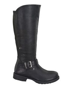 Loving this Black Top Stretch-Back Boot on #zulily! #zulilyfinds