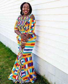 Kente Wedding Dress Styles of 2019 Latest African Fashion Dresses, African Dresses For Women, African Print Dresses, African Print Fashion, African Attire, African Wear, African Outfits, African Prints, African Style