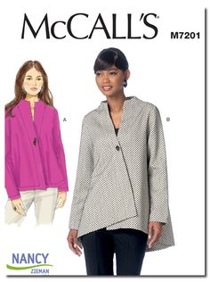 M7201-Nancy Zieman Swing Jacket by McCalls
