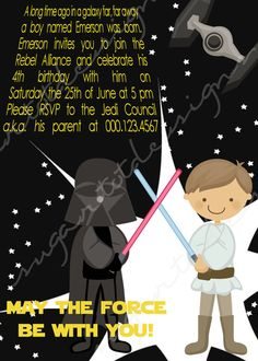 Cute Stars Wars Invitations that are easy to recreate