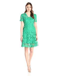 Amazon.com: Elie Tahari Women's Samira Dress, Palm, 16: Clothing