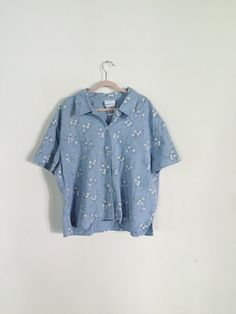 vintage floral button up blouse / shirt by parsimoniaclothes