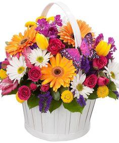 Flower Box Gift, Flower Boxes, Basket Flower Arrangements, Floral Arrangements, Easter Flowers, Summer Flowers, Online Flower Delivery, Local Florist, Spring Blooms