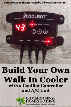 A CoolBot and household window A/C unit lets you turn any well insulated room into a DIY walk in cooler, saving you thousands versus a commercial cooler. Deer Processing, Walk In Freezer, Diy Cooler, Root Cellar, Budget Planer, Butcher Shop, Homestead Survival, Survival Skills, Farms Living