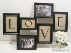 All Burlap Crafts - Burlap & Wood Love Collage