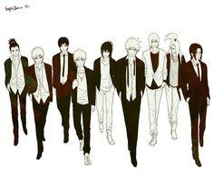 NARUTO SHIPPUDEN: Shikamaru, Gaara, Sai, Naruto, Sasuke, Kakashi, Suigetsu, Deidara and Itachi as Super Junior version