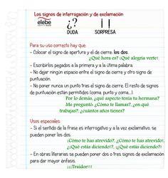 Algunas indicaciones sobre el uso correcto de los signos de interrogación y de exclamación.