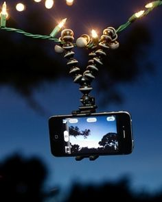 Gorillapod GripTight PhoneCam ClampStand     Works with every phone ever, even with a case on. $30