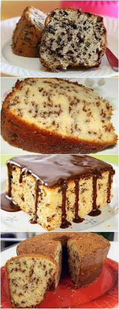 Aquele bolinho simples que fica uma delicia... bolo formigueiro.. Untar a forma com margarina e farinha de trigo. Reserve. #receita#bolo#pudim#mousse#sobremesa#cheesecake#aniversario#torta#confeitaria Bolo Grande, Cupcake Cakes, Cupcakes, Banana Bread, Good Food, Food And Drink, Snacks, Cooking, Mousse