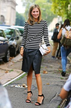 Stripes and a skirt.