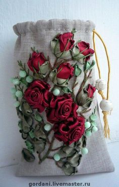 Wonderful Ribbon Embroidery Flowers by Hand Ideas. Enchanting Ribbon Embroidery Flowers by Hand Ideas. Silk Ribbon Embroidery, Beaded Embroidery, Cross Stitch Embroidery, Embroidery Patterns, Hand Embroidery, Ribbon Art, Ribbon Crafts, Silk Flowers, Fabric Flowers