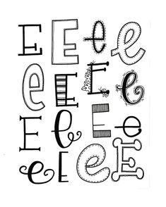 """498 Likes, 11 Comments - Jessie Arnold (@mrs.arnoldsartroom) on Instagram: """"Letter E for #handletteredabcs! #handletteredabcs_2017 #abcs_e #lettering #letteringlove…"""""""
