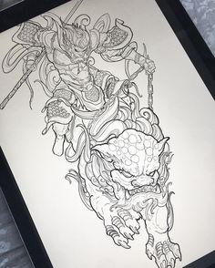 "4,079 Likes, 79 Comments - chronic ink tattoos 🇨🇦 (@truong87) on Instagram: ""Work in progress! Monkey king riding foo dog leg sleeve! #irezumicollective #vancouvertattoo…"""