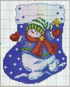 Free Snowman Cross Stitch Designs | Found on craft-craft.net