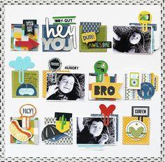 Bella Blvd Alex Collection   Hey You layout by November Guest Designer Eva Pizarro