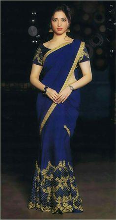Actress Tamanna in Saree Latest Photos Beautiful Bollywood Actress, Most Beautiful Indian Actress, Beauty Full Girl, Beauty Women, Indian Dresses, Indian Outfits, Saree Models, Indian Beauty Saree, Indian Sarees