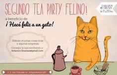 ¿Ya tenés tu entrada para el Tea Party Felino a beneficio de nuestros gatos? Podes transferir/depositar el pago de tu entrada y  retirarla por Caballito, re fácil! La entrada sólo cuesta $100 y ese día vamos a compartir mucho amor gatuno =^.^= Sumate, pasá una tarde única comiendo rico y ayudando. Miau, miau, miau (gracias, gracias, gracias)