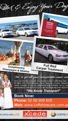 Advert we designed for Coffs Hire Cars. This will appear in a Coffs Harbour bridal magazine.