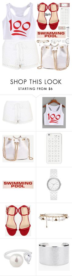 """""""Keep it one hundred:)"""" by pastelneon ❤ liked on Polyvore featuring Topshop, MICHAEL Michael Kors, DKNY, New Look, Simply Silver and Chico's"""