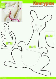 Free Printable Animal Kangaroo With Baby Coloring Pages For Kids