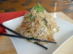 Glass Noodles With No Glass Ceiling | Healthy Eats – Food Network Healthy Living Blog. These were alright, but I would've liked more flavor. Also, broccoli slaw kinda sucks, I think I would use cabbage if I did it again.