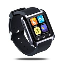 """Smarte Bluetooth Smart Wrist Watch Phone Mate for IOS Android Iphone Samsung HTC Black. This is a new Bluetooth Smart U Watch compatible with all Bluetooth V2.0 or above enabled smartphones, tablets and PCs,such as Iphone/Samsung/LG/HTC etc. Talk Time3 hours,Standy-by time about 160 hours,Built-in 230mAh rechargeable battery,Two-year warranty. 1.44"""" Capacitive Touch Screen TFT LCD + Bluetooth V3.0+EDR,Transmitting Range10m. Remind you to stand up, physical activity. Remind that you need…"""