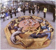 otra pintada en el suelo espectacular (www.fuerakilos.com)