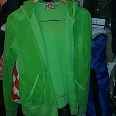 Juicy couture hoodie Green Juicy Couture Jackets & Coats Utility Jackets