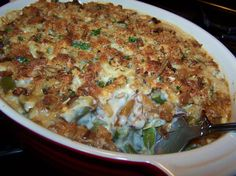 French Onion Green Bean Casserole - Gluten Free Recipe #TDayRoundUp Entry by @EZ Gluten Free