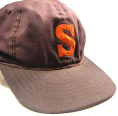 Preppy Vintage Navy Blue Syracuse University Orange S Cap Hat #PreppySyracuse