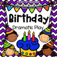 Birthday Party in the dramatic play center! Props, labels, real classroom photographs, and everything you need to set it up! Camping Dramatic Play, Dramatic Play Themes, Dramatic Play Area, Dramatic Play Centers, Preschool Birthday, Birthday Activities, Preschool Themes, Preschool Centers, Family Activities