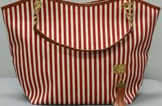 GroopDealz | Striped Canvas Handbag - 3 Colors! #stripedtote #groopdealz