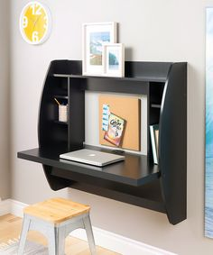 I sure do wish I could ask my daddy to make one of these for the boys for Christmas!!!  Look at this #zulilyfind! Black Floating Storage Wall Desk by Prepac #zulilyfinds