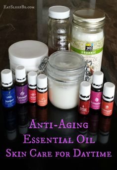 Anti-aging essential oil skincare for daytime