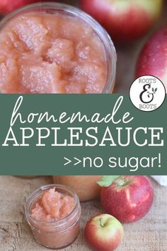 How to make applesauce and can it. This applesauce has no sugar added to it, just apples. Let me show you step-by-step how to make and can applesauce at home. #applesauce #apples #canningapplesauce #snackrecipes #applerecipes #homemadeapplesauce #howtocanapples #canning #foodpreservation #preserving #homecanning #sugarfree Low Sugar Recipes, No Sugar Foods, Apple Recipes, Real Food Recipes, Snack Recipes, Healthy Recipes, Canned Applesauce, How To Make Applesauce, Homemade Applesauce