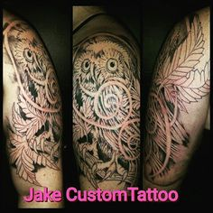 #freehand #custom #tattoo #bodyart #jakecustomtattoo #nh #ink #owl #outline this is just the first session!