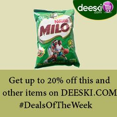 Milo refill 1kg is selling fast on Deeski.com Don't be left out of the amazing deals.  Start buying NOW!!!   Log on to Deeski.com to buy yours today.  Shop online at www.deeski.com OR Call/SMS 0814-300-4000 to order. You can also SMS the word 'Order' and a Customer Service Representative will call you back to take your order.  #Deeski #Deals #DealsOfTheWeek #LowestPrices #Wholesale #Retail #Groceries