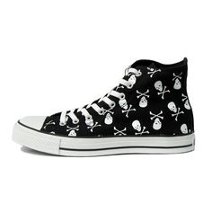 1333e11d0b1 15 skull converse shoes - Skullspiration.com - skull designs