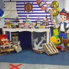 mesas decoradas de jake y los piratas - Buscar con Google