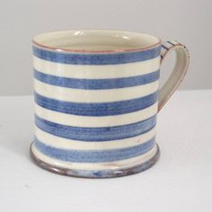 judith rowe: charming handmade mug - stripe motif
