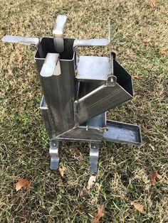 Estufa de cohete sólar de acero inoxidable | Etsy