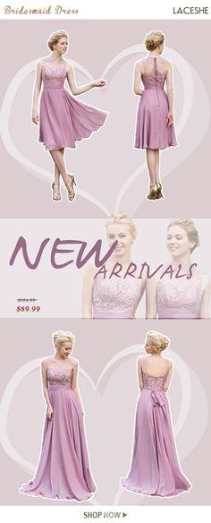 43959bb276a Women s Sleeveless Stunning Bridesmaid Dress. LaceShe