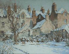 CHARLES OPPENHEIMER, RSA RSW (1875-1961) SUNSHINE AFTER SNOW signed oil on canvas 74cm x 95cm