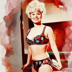 Painting - Barbara Windsor, Carry On Films Cast by Esoterica Art Agency , English Actresses, British Actresses, Barbara Windsor, Cast Art, Diana Dors, Thing 1, Film Images, British Comedy, Sexy Older Women