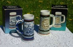 Two Avon Vintage Collectible Ceramic Steins by PantoisPapillon, $30.00