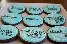 Thank You cookies [posting photo for inspiration only] Sugar Cookie Icing, Royal Icing Cookies, Sugar Cookies, Iced Cookies, Cute Cookies, Cupcake Cookies, Chocolates, Thank You Cookies, Cookie Crush