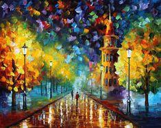 pintura de invierno  Winter oro  invierno óleo por AfremovArtStudio