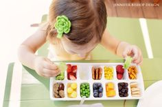 Cut down on messes by serving your toddler's meals in an ice cube tray.